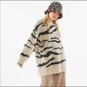 Urban outfitter, zebra, oversized sweater, NWT sm